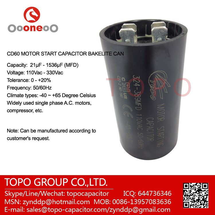 130-156MFD 330VAC Motor Start Capacitor Used For AC Motor Starting Capasitor HVAC Parts