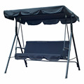 Benheng Black Color 3 Person Canopy Porch Swing