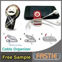 FASTIE_China Maker printing custom logo cable winder for headphone