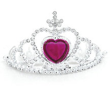 Factory wholesale Heart shape stone plastic head crown for girls