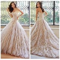luxury beaded ball gown bridal light pink wedding dress