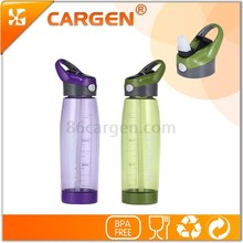 Outdoor handy plastic bpa free kids running water bottle with carabiner