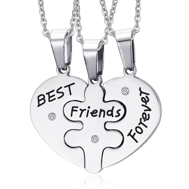 Latest fashion stainless steel friends lovers family affection perpetual necklace,Family set meal necklace