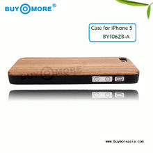 durable and luxury wooden high quality back cover for iphone5