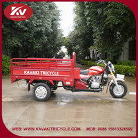 Fashion design red three-wheel motorcycle with good quality engine