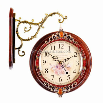 Decorative Double Sided Wall Clock Pearl Quartz Wall Clock
