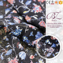 Good price stretch floral printed chiffon fabric price per meter for dress
