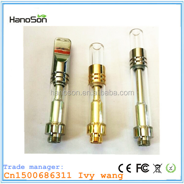 Custom logo for cbd o pen vape cartridge/HNS 0.5ML glass cbd coil atomizer/refill bbtank cbd hemp cartomizer