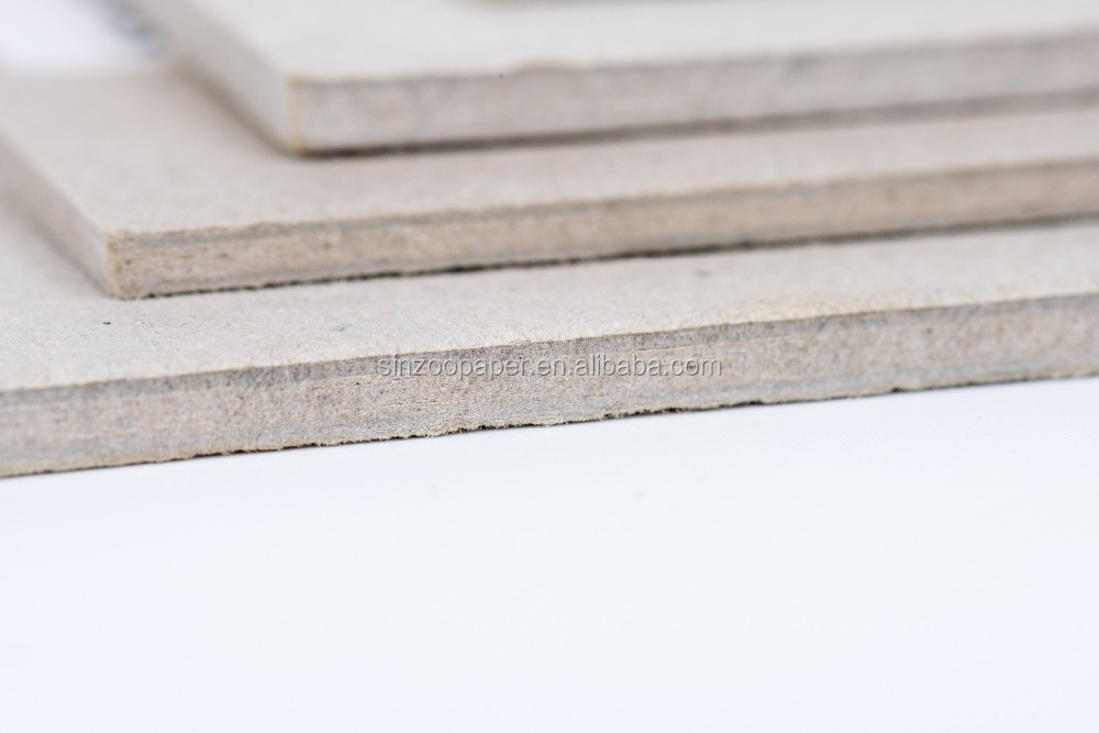 2mm Laminated paper grey board for book cover