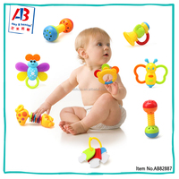 Popular 6 month old home made baby toys rattels