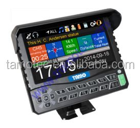 2017 newly designed GPS triggered multilingual tour commentary system with Driver display