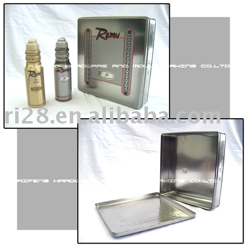 Cosmetic packaging tin case