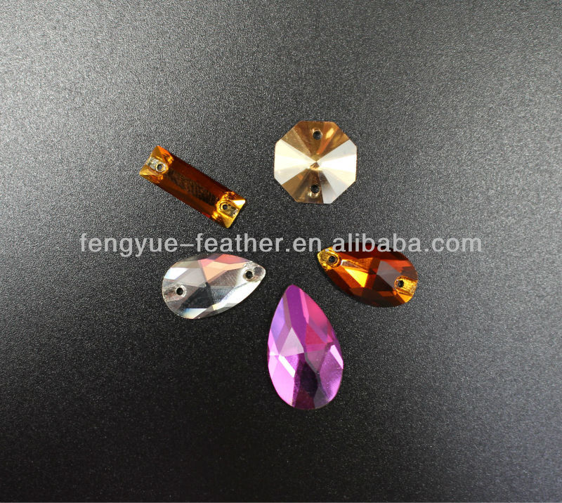 Factory wholesale cheap accesories colourful round print resin epoxy hot fix sew on jewelry two holes clothes acrylic rhinestone