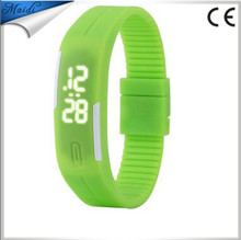 China Cheaper Alibaba Hot Unisex White LED Silicone Smart Band Digital watch Sports Wrist Watch For Men Women LMW-6