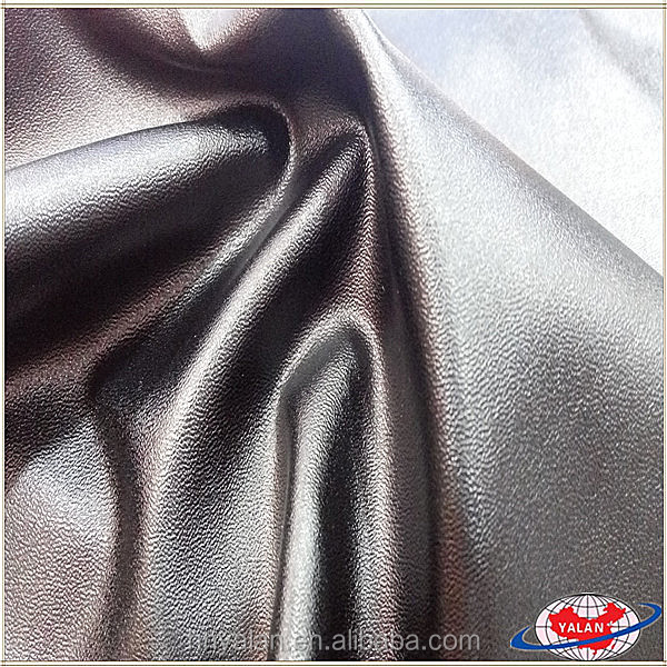 soft handfeeling stretch leather with velvet backing for dress