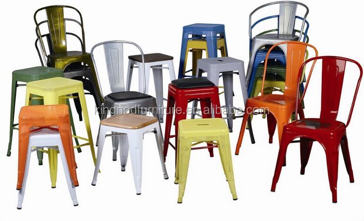Barato Retro Antigo Refeitório Industrial Tolics Réplica Empilhável Cadeira de Jantar Ao Ar Livre do Metal Do Vintage