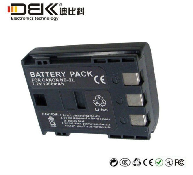 NB-2L rechargeable camera battery For CANON NB-2L NB-2LH 400D Rebel XT XTi