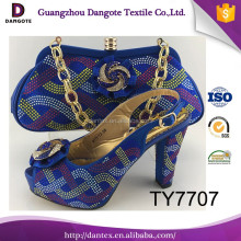 2017 Shiny Rhinestones Italian Shoes And Bags Set Orange Nigerian Party Shoes And Bag Set African Dress Shoes TY7707