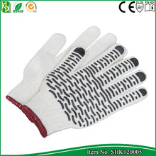 High quality outdoor Pvc red dotted safety gloves working for Garden