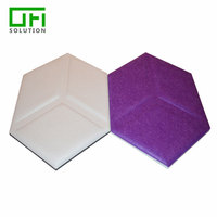 Hexagon Polyester Fiber Acoustic Wall Panel
