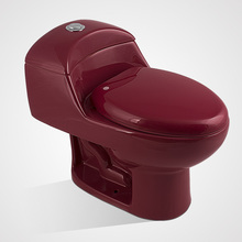 Porcelain Siphonic Cheap Price One Piece Toilet Wine Red