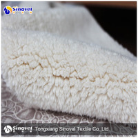 Suede bonded Faux Fur Fabric for Winter Clothing