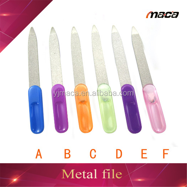 Professional manicure pedicure plastic handle personalized nail file