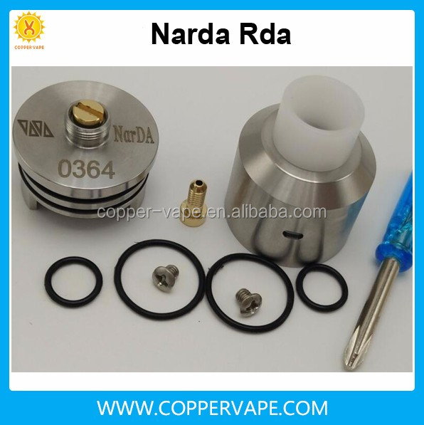 Top quality 316SS Narda rda with a BF Pin Coppervape Narda atomizer 24K Gold Plated