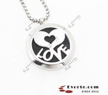 2015 jewelry couple gifts Stainless steel 30mm Magnetic closure perfume aroma pendant