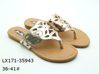 With straps leather flip flops customize printing