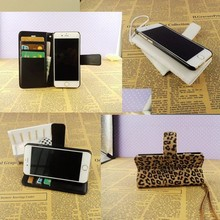 High quality colorful pu leather mobile phone case for samsung note3 for iphone5 6 plus leopard animal leather wallet case
