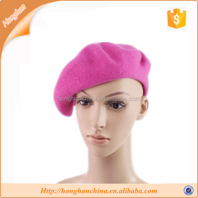 Beret Hats Wool Felt for Fashion Ladies