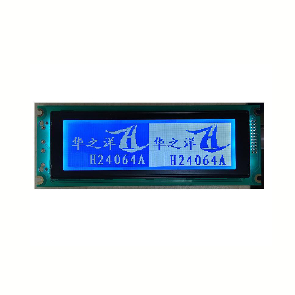 new design OEM 240x64 STN blue graphic lcd module