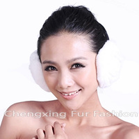 CX-EM-03 Winter Warm Women Genuine rabbit Fur Ear Muffs