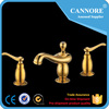 Golden Brass Bathroom Taps