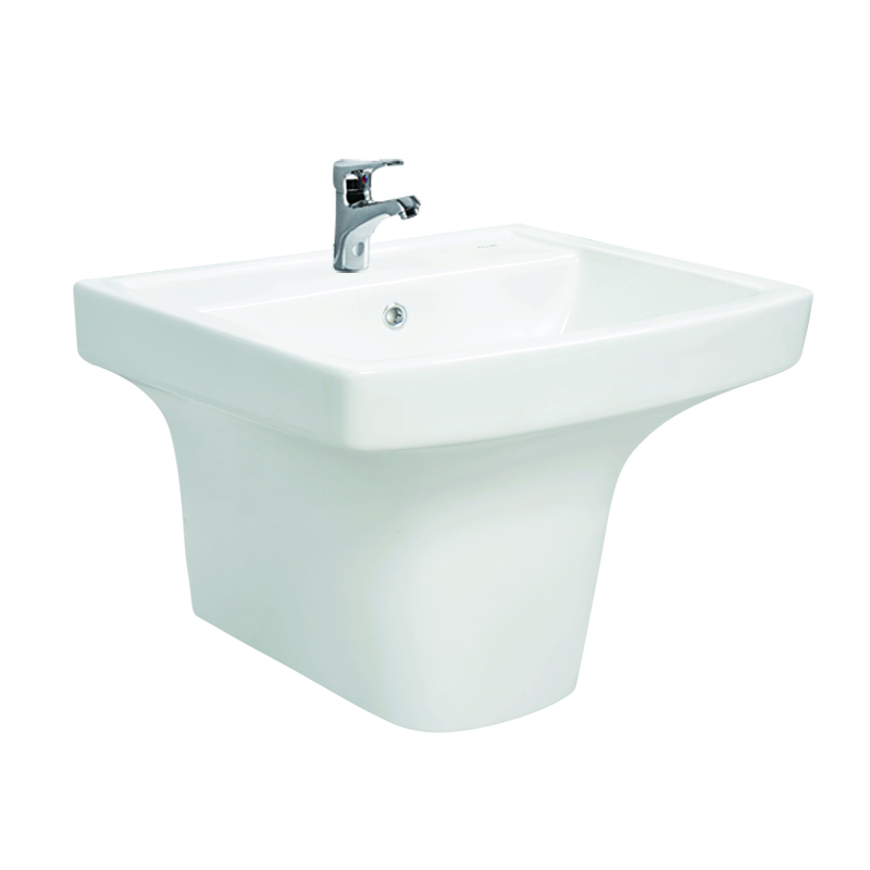Hot selling for wall hung semi pedestal ceramic sink