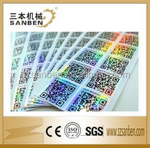 Sanben dot matrix holographic sticker 3D hologram sticker