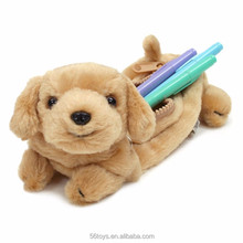 dog rabbit duck cow animal shape cool plush pencil case box with zipper