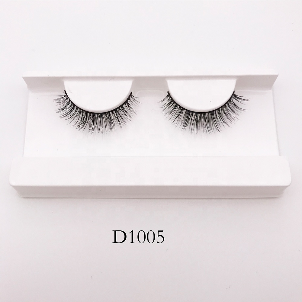 Wholesale Real Fur 100% 3D Mink Eyelashes Handmade Crossing 1 Pair Lashes