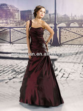 One-shoulder A-line Empire Strapless Party Formal Gowns Christmas Dress Evening Dress XYY-k45-13