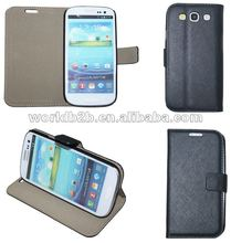 Book style Flip Leather Case for Samsung Galaxy S3 i9300, with hard Cover