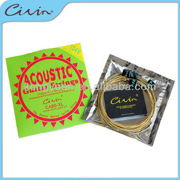 Phosphor bronze wound acoustic guitar strings