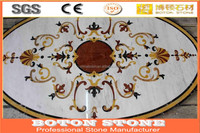 Hot sale Stone waterjet marble Floor design/oval mosaic medallion floor patterns