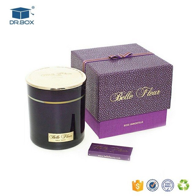 pink color different fragrance paper round tube candle gift box with lid