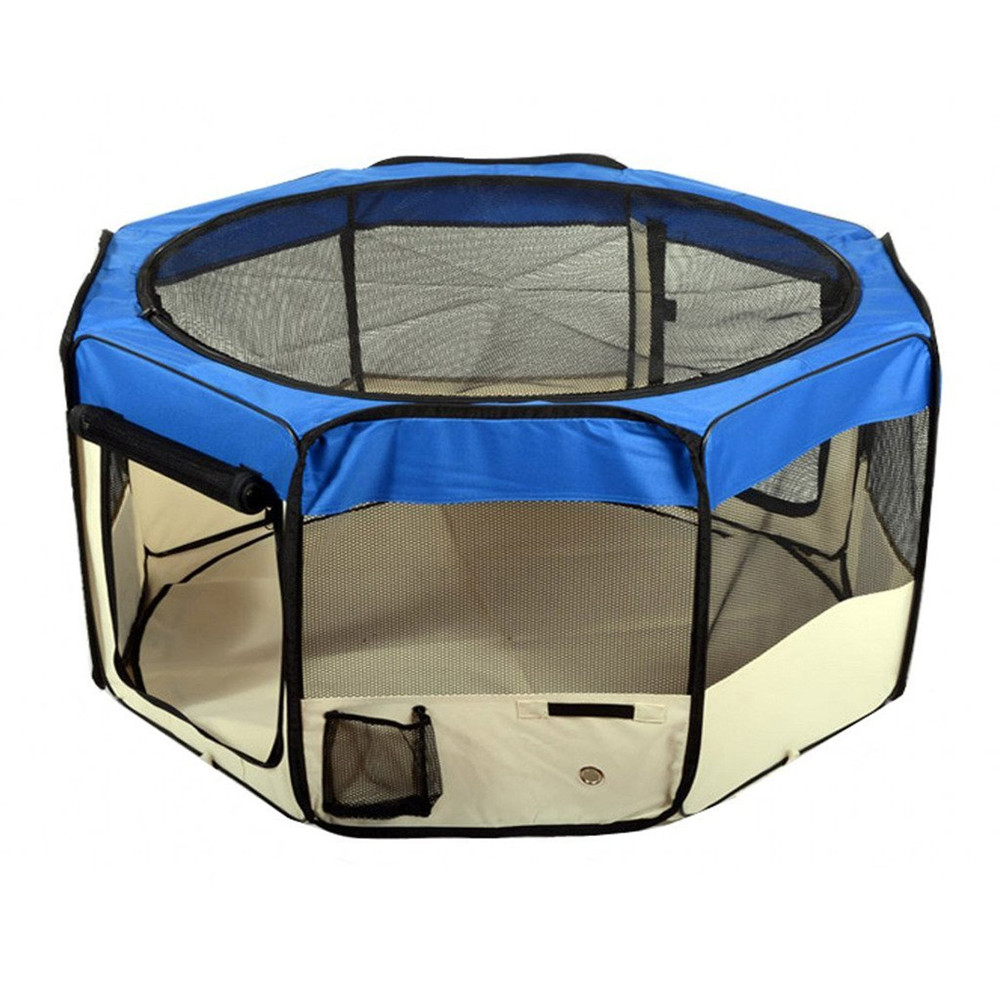 Foldable Portable Dog/Cat/Rabbit/Puppy Pet Playpen Exercise Pen Kennel Oxford Cloth with Carry Bag