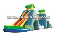 inflatable chain bridge slide inflatable slide gaint inflatable playgrounds QX-11097L