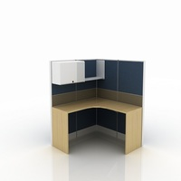 High screen single position office partition