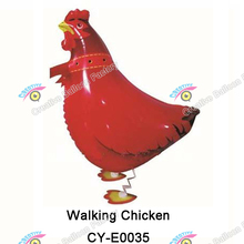 Inflatable foil mylar Walking Pet Animal toys balloon foil walking Chicken balloon