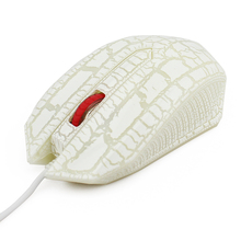white prince gaming spider web awesome computer wired mouse