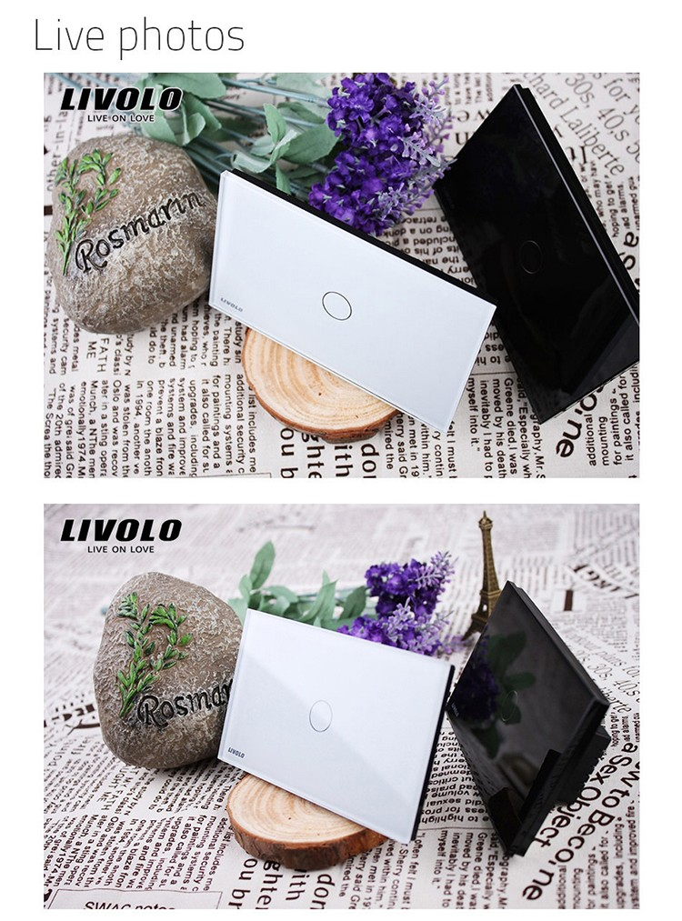 Livolo Black Color Pearl Crystal Glass Panel US/AU Style 2 Way Wireless Remote Smart Home Light Switch VL-C301SR-82